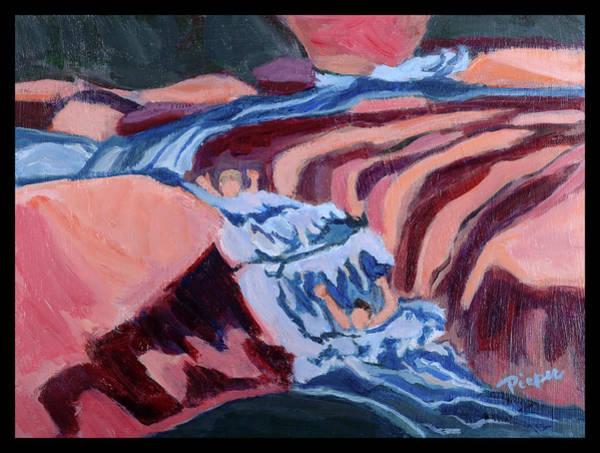Oak Creek Canyon Painting - Sheer Fun At Slide Rock Park Arizona by Betty Pieper
