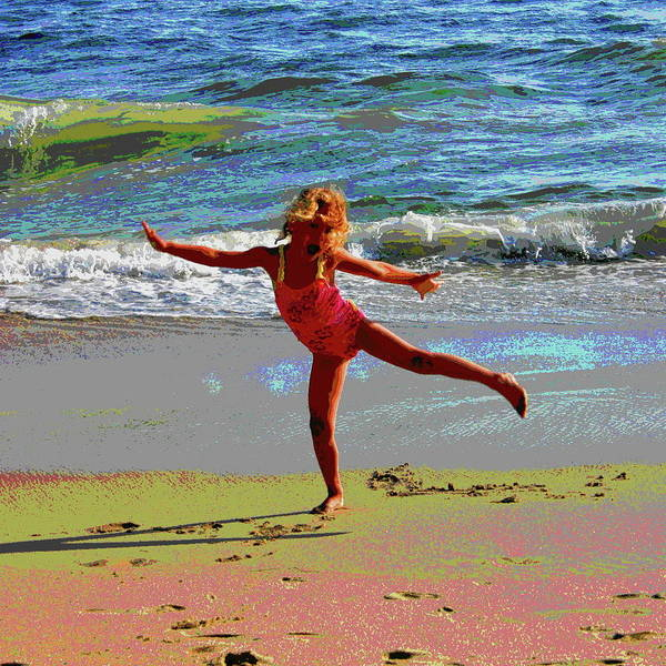 Laguna Beach Mixed Media - Sheer Joy by Les Mayers