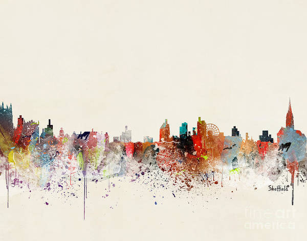 Wall Art - Painting - Sheffield Skyline by Bri Buckley