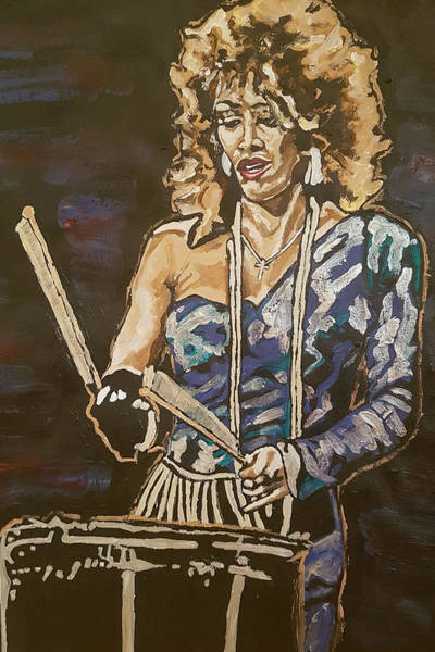 Painting - Sheila E by Rachel Natalie Rawlins