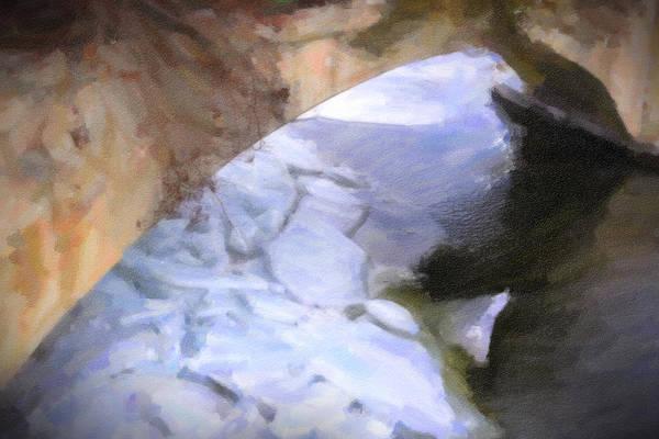 Photograph - Shelburne Falls River Ice by Tom Singleton