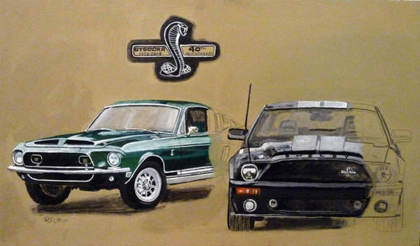 Painting - Shelby 40th Anniversary by Richard Le Page
