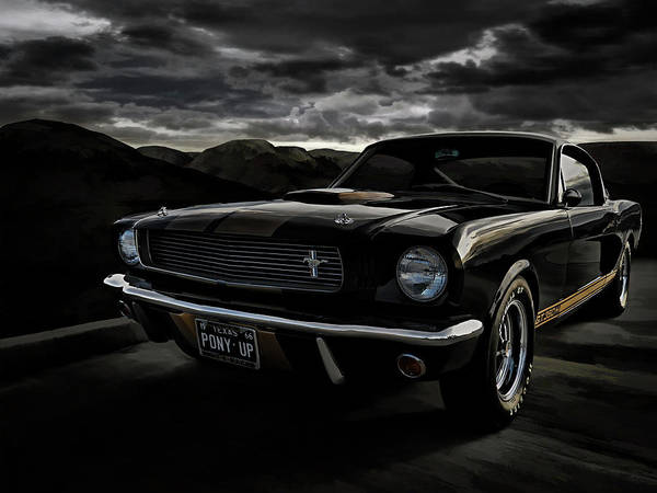 Racer Digital Art - Shelby Gt350h Rent-a-racer by Douglas Pittman