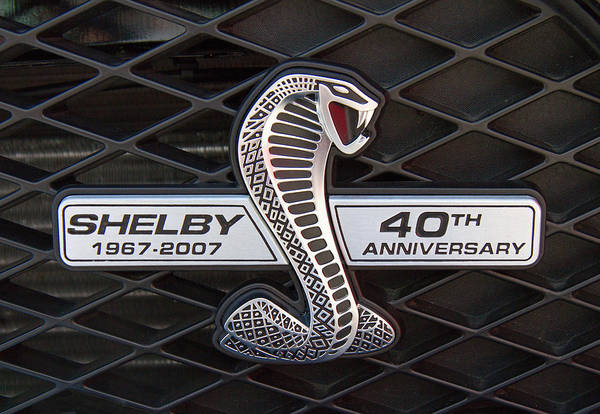 Wall Art - Photograph - Shelby Mustang Emblem by Nick Gray