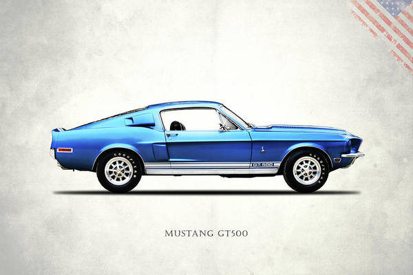 Wall Art - Photograph - Shelby Mustang Gt500 1968 by Mark Rogan
