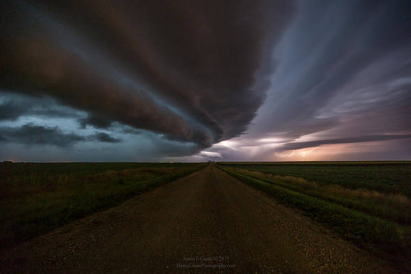 Shelf Cloud Photograph - sHELf cLoud by Aaron J Groen