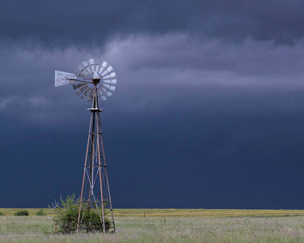 Photograph - Shelf Cloud And Windmill -03 by Rob Graham