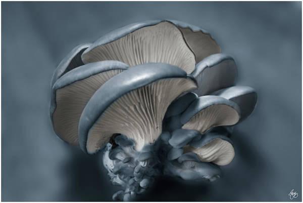Photograph - Shelf Fungus In Blue by Wayne King