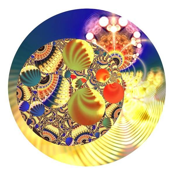 Digital Art - Shell Circle by Robert Thalmeier