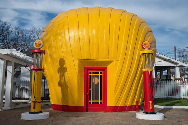 Flammable Photograph - Shell Gas Station by Matt Plyler