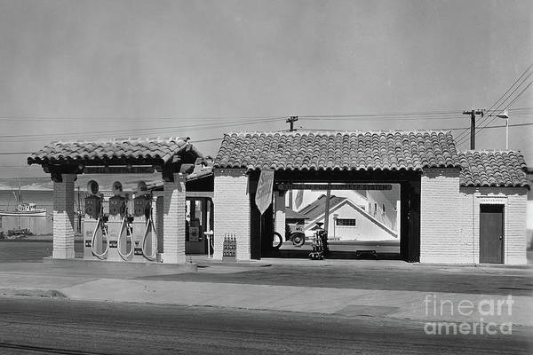 Photograph - Shell Gas Station Near Fishermans Wharf Monterey by California Views Archives Mr Pat Hathaway Archives