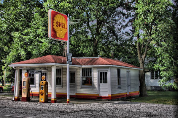 Photograph - Shell Station by CA  Johnson