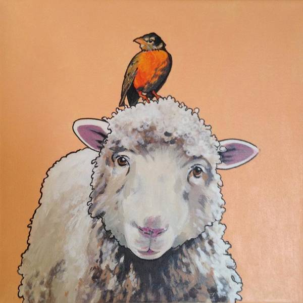 Shelley The Sheep Art Print