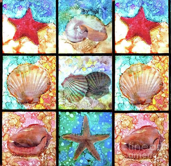 Wall Art - Painting - Shells X 9 by Alene Sirott-Cope
