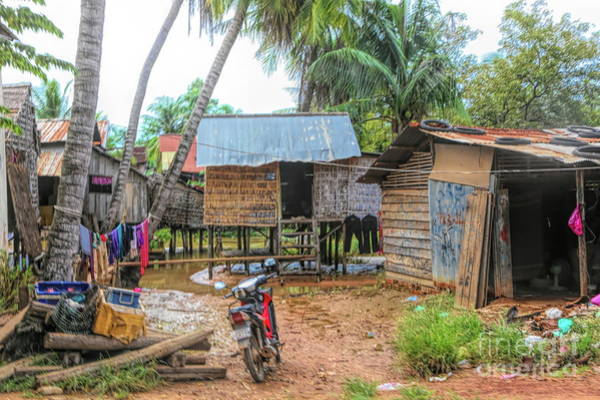 Mud House Photograph - Shelter Home Cambodia Siem Reap I by Chuck Kuhn