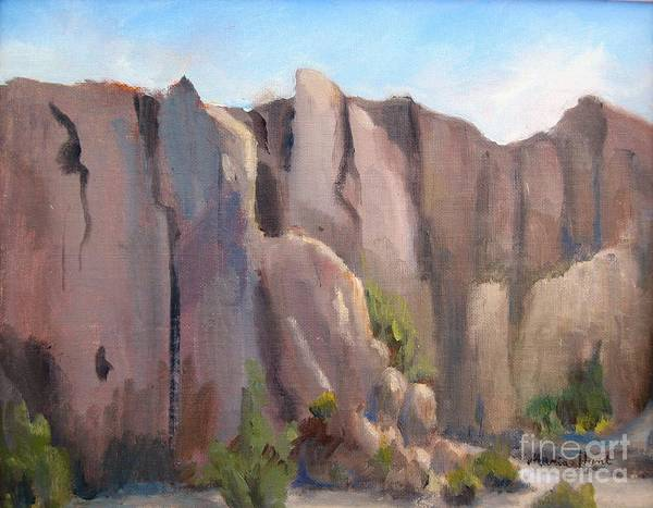 Wall Art - Painting - Castles In The Sandstone by Maria Hunt