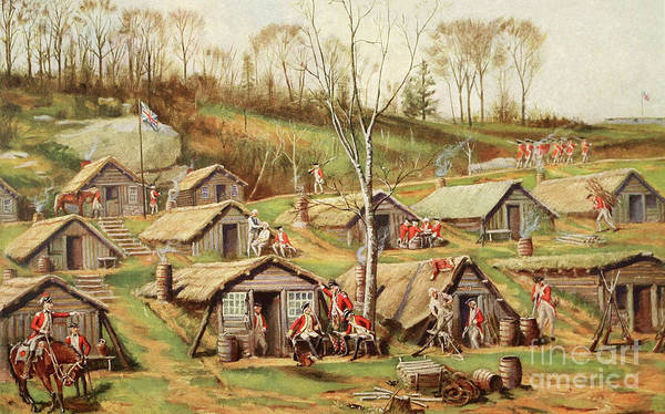 American Revolution Painting - Shelters Used By British And Hessian Soldiers During The American Revolutionary War by American School