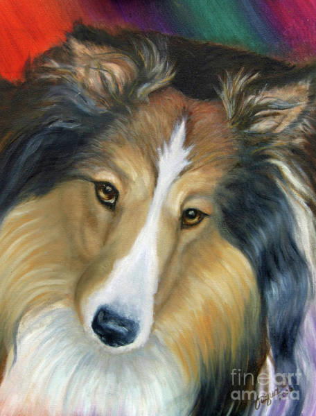 Wall Art - Painting - Sheltie - Collie by Beverly Fuqua