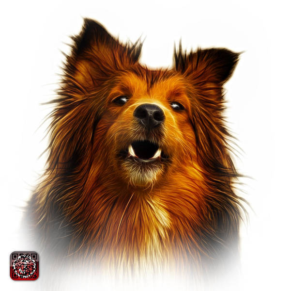 Painting - Sheltie Dog Art 0207 - Wb by James Ahn