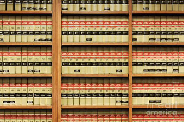 Wall Art - Photograph - Shelves Of Law Books by Jeremy Woodhouse