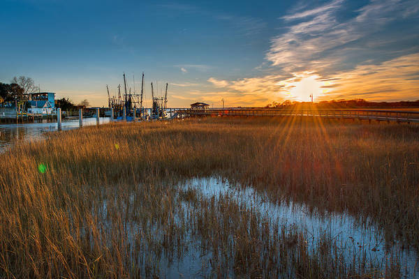 Wall Art - Photograph - Shem Creek Docks by Drew Castelhano