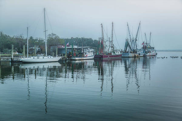Photograph - Shem Creek Fog by Donnie Whitaker