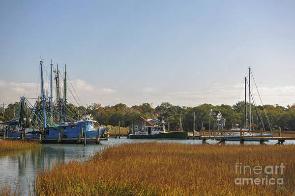 Photograph - Shem Creek In Mt. Pleasant Sc by Dale Powell