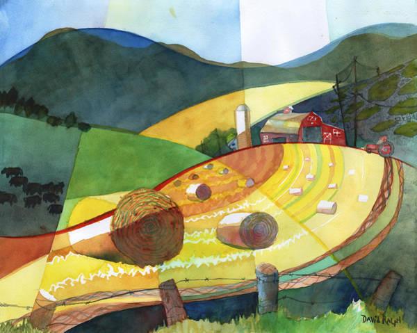 Painting - Shenandoah Haystacks by David Ralph