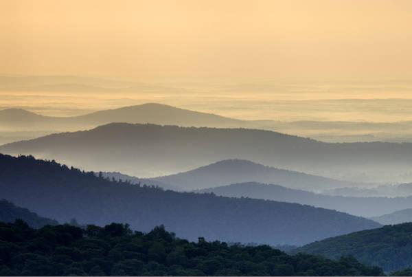 Skyline Drive Photograph - Shenandoah National Park Mountain Scene by Brendan Reals