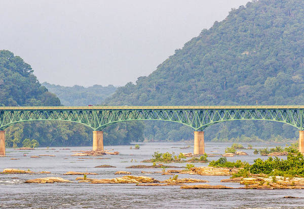 Photograph - Shenandoah River Bridge At Harpers Ferry by Pete Hendley