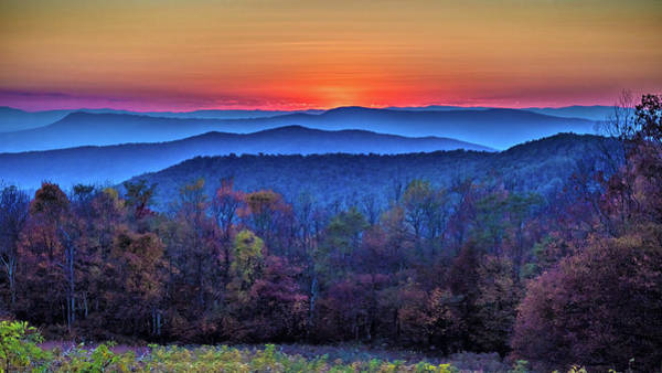 Photograph -  Shenandoah Valley Sunset by Louis Dallara