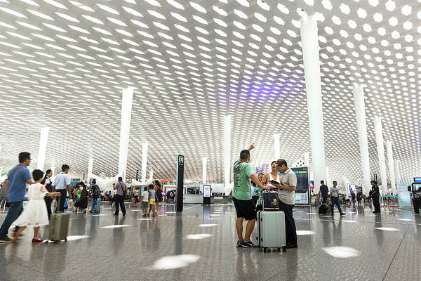 Photograph - Shenzhen Airport by Geoffrey Lewis