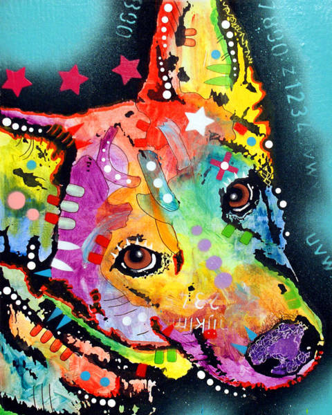 Wall Art - Painting - Shep by Dean Russo Art