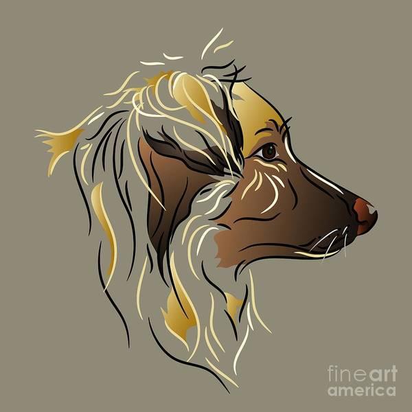 Digital Art - Shepherd Dog In Profile by MM Anderson