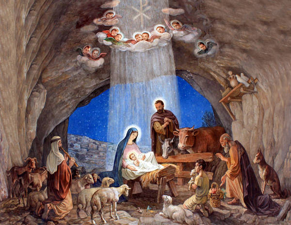 Bethlehem Photograph - Shepherds Field Nativity Painting by Munir Alawi