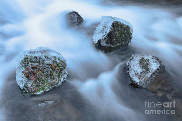 Photograph - Shepperd's Dell Icy Rocks by Richard Sandford