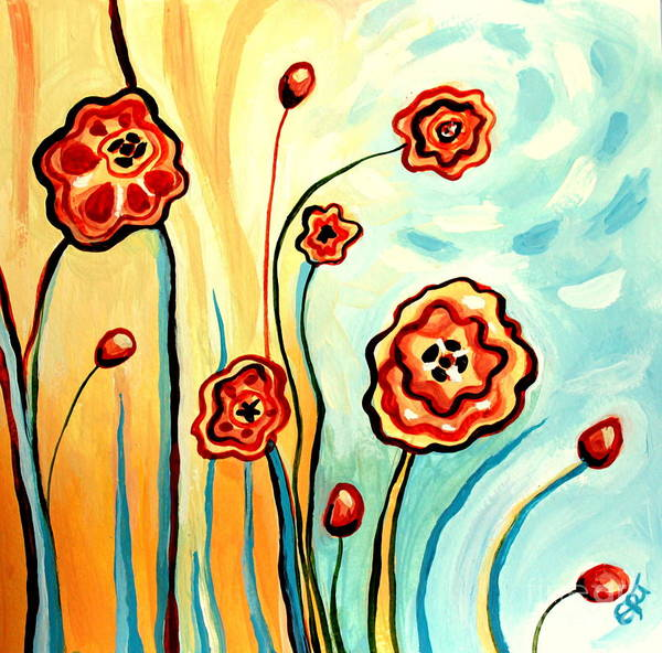 Painting - Sherbert And Powder Blue Skies by Elizabeth Robinette Tyndall