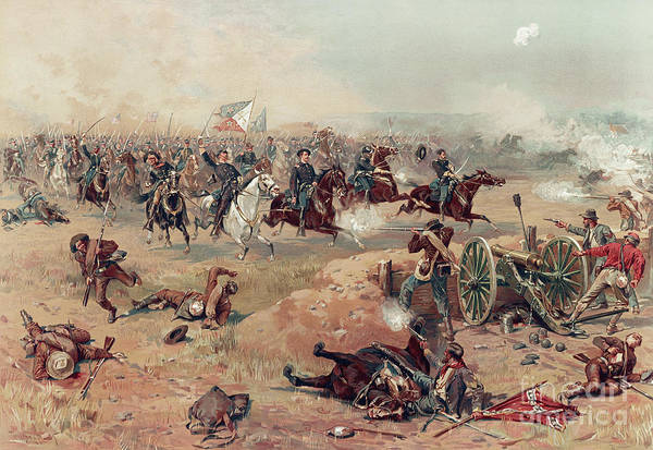 Confederate Generals Painting - Sheridan's Final Charge At Winchester by Thure de Thulstrup