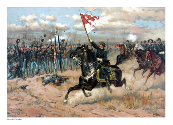 Civil War Wall Art - Painting - Sheridan's Ride by War Is Hell Store