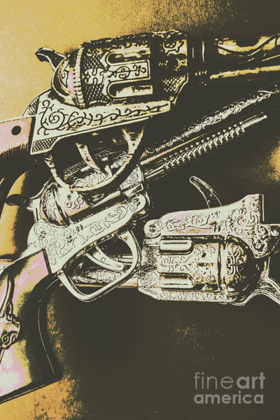 Toy Gun Photograph - Sheriff Guns by Jorgo Photography - Wall Art Gallery