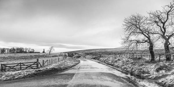 Photograph - Sheriffmuir Road In Central Scotland by Jeremy Lavender Photography