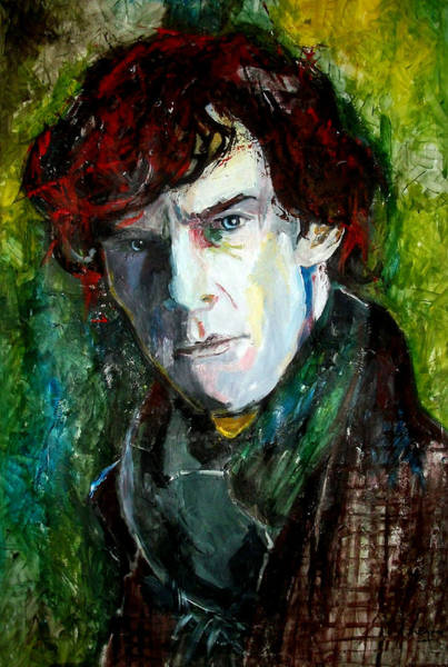 Bbc Painting - Sherlock Holmes - Benedict Cumberbatch by Marcelo Neira