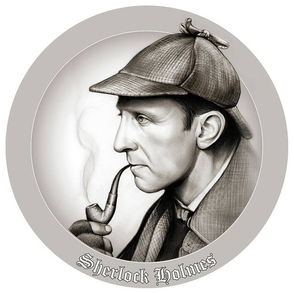 Wall Art - Mixed Media - Sherlock Holmes by Greg Joens
