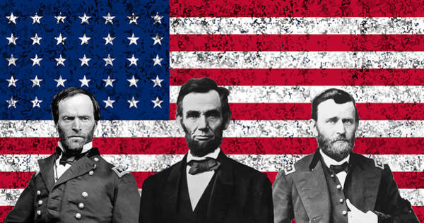 Wall Art - Digital Art - Sherman - Lincoln - Grant by War Is Hell Store