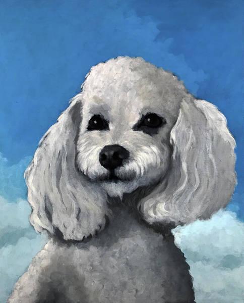 Wall Art - Painting - Sherman - Poodle Pet Portrait by Linda Apple