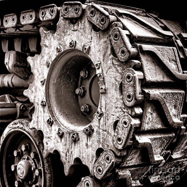 Wall Art - Photograph - Sherman Tank Drive Sprocket by Olivier Le Queinec