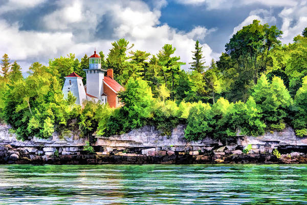 Painting - Sherwood Point Lighthouse In Door County by Christopher Arndt