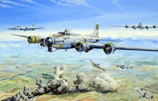 Air War Painting - She's A Honey 2 by Charles Taylor