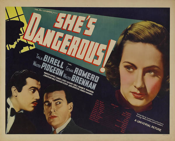 Wall Art - Mixed Media - She's Dangerous 1937 by Mountain Dreams