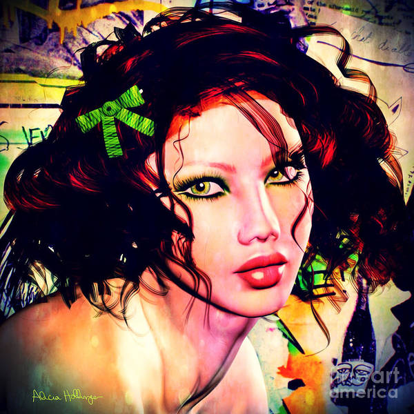 Digital Art - She's Like A Rainbow by Alicia Hollinger